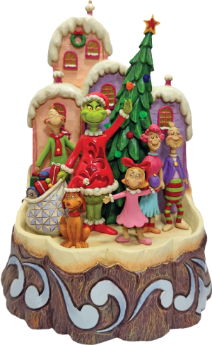 Carved by Heart Grinch Figurine