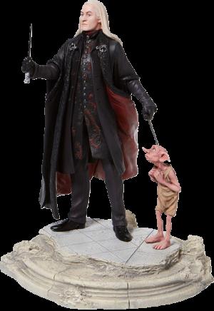 Lucious Malfoy with Dobby Figurine