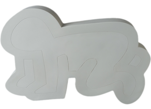 Keith Haring Radiant Baby (White Version) Collectible Statue