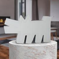 Gallery Image of Keith Haring Barking Dog (White Version) Statue