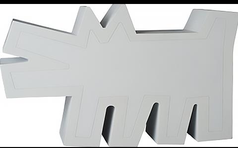 Medicom Toy Keith Haring Barking Dog (White Version) Statue