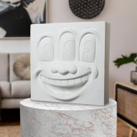 Gallery Image of Keith Haring Three Eyed Smiling Face (White Version) Collectible Statue