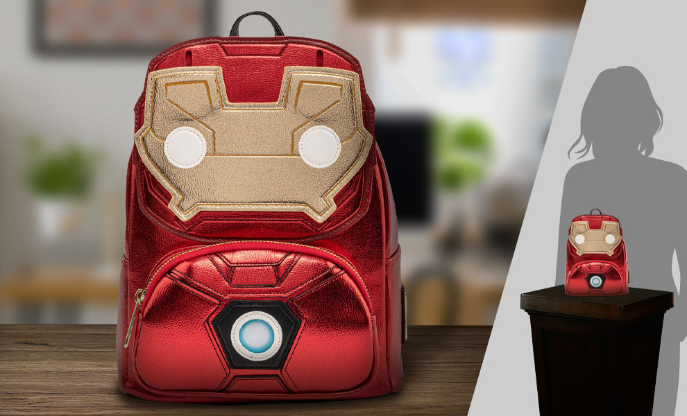 Gallery Feature Image of Iron Man Light-Up Mini Backpack Apparel - Click to open image gallery