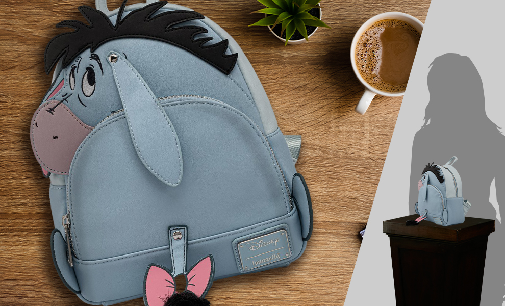 Gallery Feature Image of Eeyore Cosplay Mini Backpack Apparel - Click to open image gallery