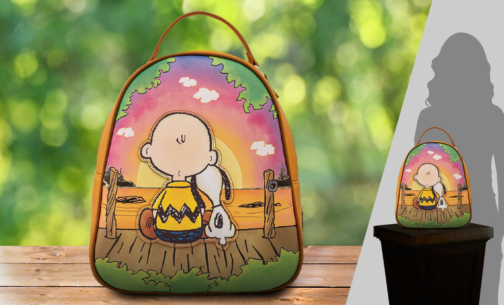 Gallery Feature Image of Charlie and Snoopy Sunset Mini Backpack Apparel - Click to open image gallery