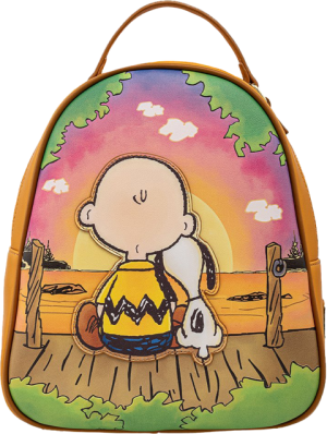 Charlie and Snoopy Sunset Mini Backpack Apparel