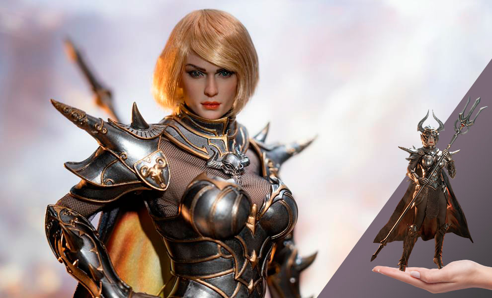 Gallery Feature Image of Knight of Fire (Silver) Sixth Scale Figure - Click to open image gallery