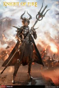 Gallery Image of Knight of Fire (Silver) Sixth Scale Figure
