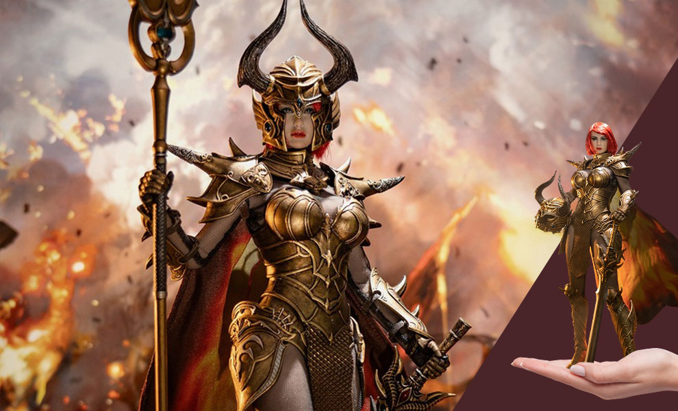 Gallery Feature Image of Knight of Fire (Golden) Sixth Scale Figure - Click to open image gallery