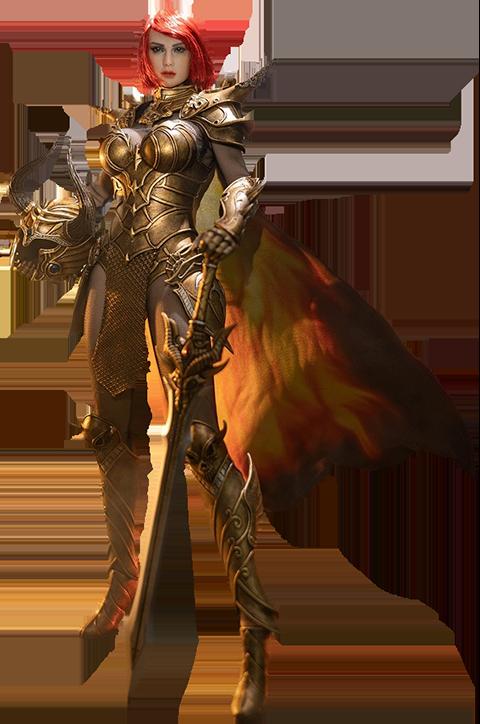 TBLeague Knight of Fire (Golden) Sixth Scale Figure