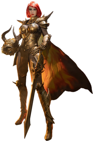 Knight of Fire (Golden) Sixth Scale Figure