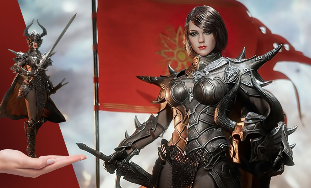 Gallery Feature Image of Knight of Fire (Black) Sixth Scale Figure - Click to open image gallery