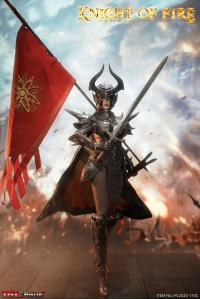 Gallery Image of Knight of Fire (Black) Sixth Scale Figure