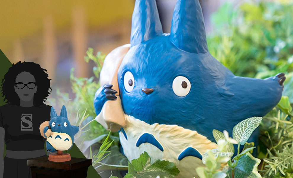 Gallery Feature Image of Found You! Medium Blue Totoro Statue - Click to open image gallery