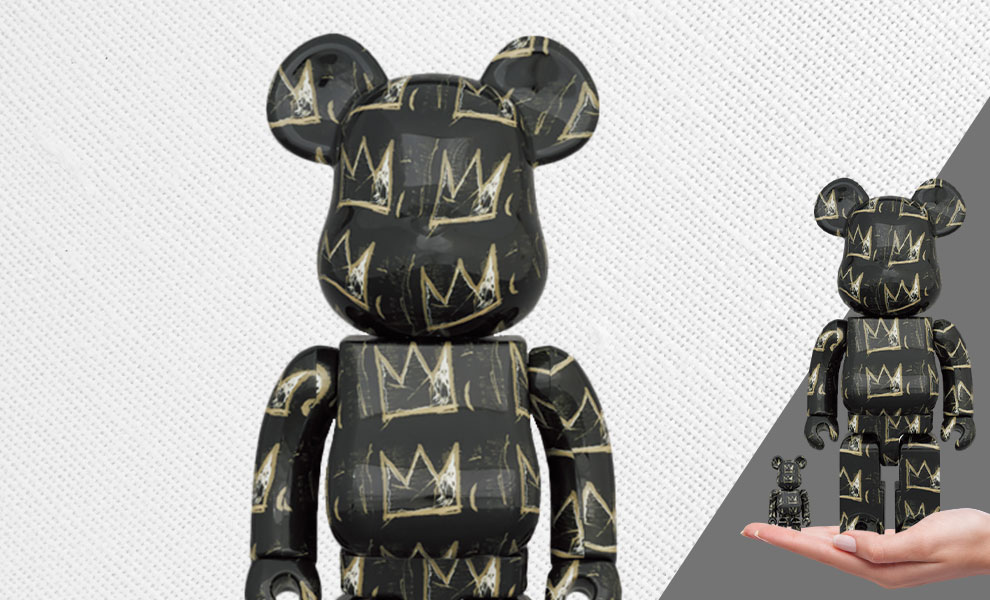 Gallery Feature Image of Be@rbrick Jean Michel-Basquiat #8 100% & 400% Bearbrick - Click to open image gallery