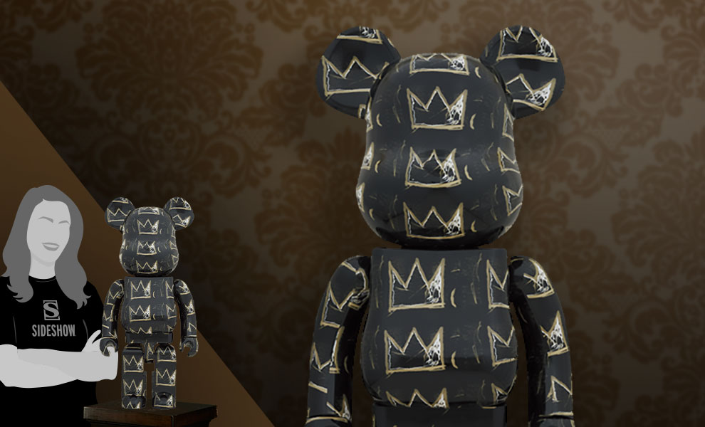 Gallery Feature Image of Be@rbrick Jean Michel-Basquiat #8 1000% Bearbrick - Click to open image gallery