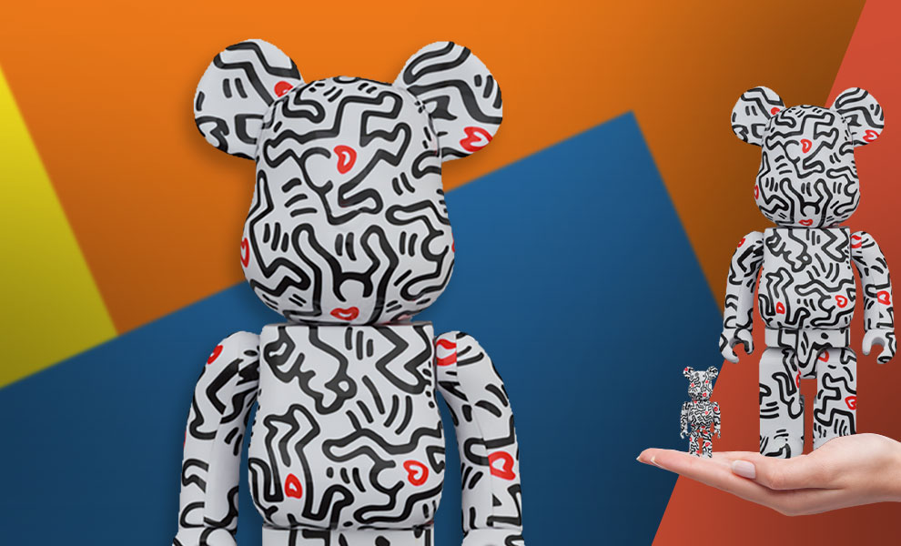 Gallery Feature Image of Be@rbrick Keith Haring #8 100% & 400% Bearbrick - Click to open image gallery