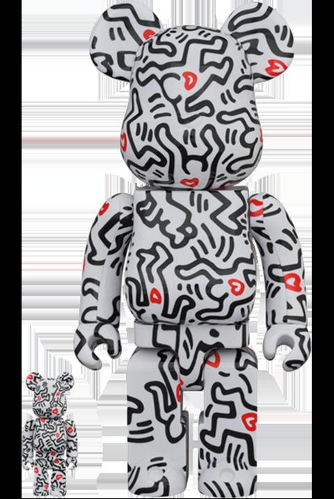 Medicom Toy Be@rbrick Keith Haring #8 100% & 400% Bearbrick