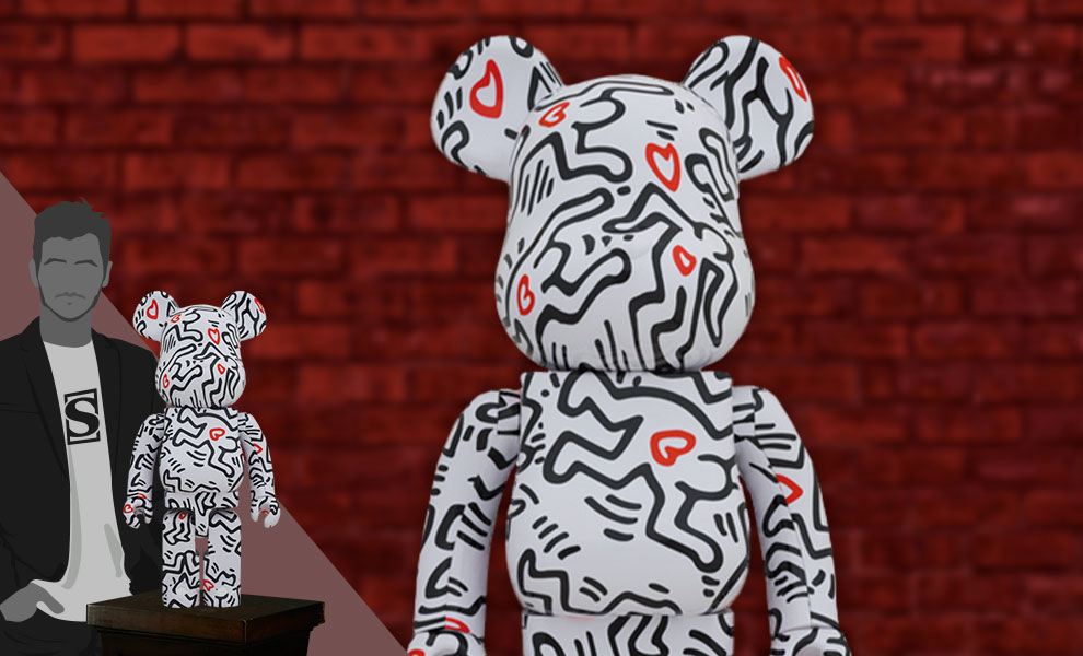 Gallery Feature Image of Be@rbrick Keith Haring #8 1000% Bearbrick - Click to open image gallery
