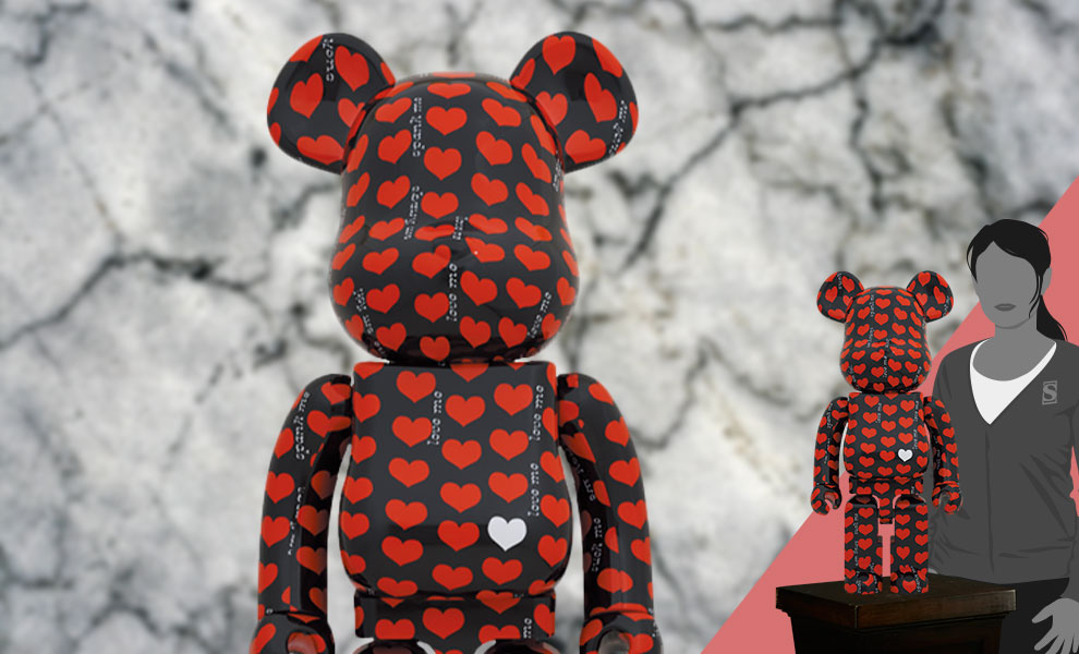 Gallery Feature Image of Be@rbrick Black Heart 1000% Bearbrick - Click to open image gallery