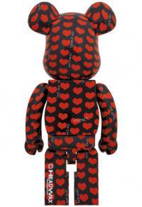 Gallery Image of Be@rbrick Black Heart 1000% Bearbrick