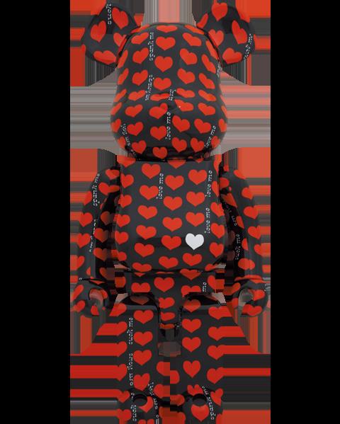 Medicom Toy Be@rbrick Black Heart 1000% Bearbrick