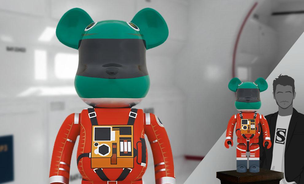 Gallery Feature Image of Be@rbrick Space Suit Green Helmet & Orange Suit Ver. 1000% Bearbrick - Click to open image gallery