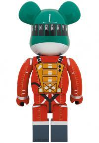 Gallery Image of Be@rbrick Space Suit Green Helmet & Orange Suit Ver. 1000% Bearbrick