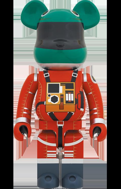 Medicom Toy Be@rbrick Space Suit Green Helmet & Orange Suit Ver. 1000% Bearbrick