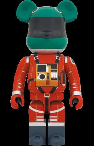 Be@rbrick Space Suit Green Helmet & Orange Suit Ver. 1000% Bearbrick