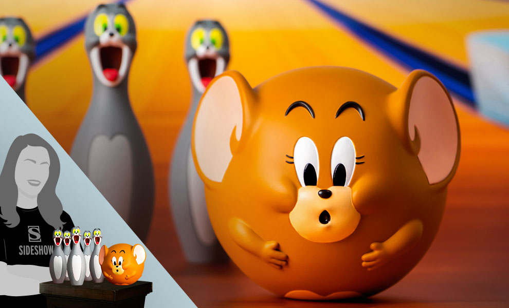 Gallery Feature Image of Tom and Jerry Bowling Figures Collectible Set - Click to open image gallery