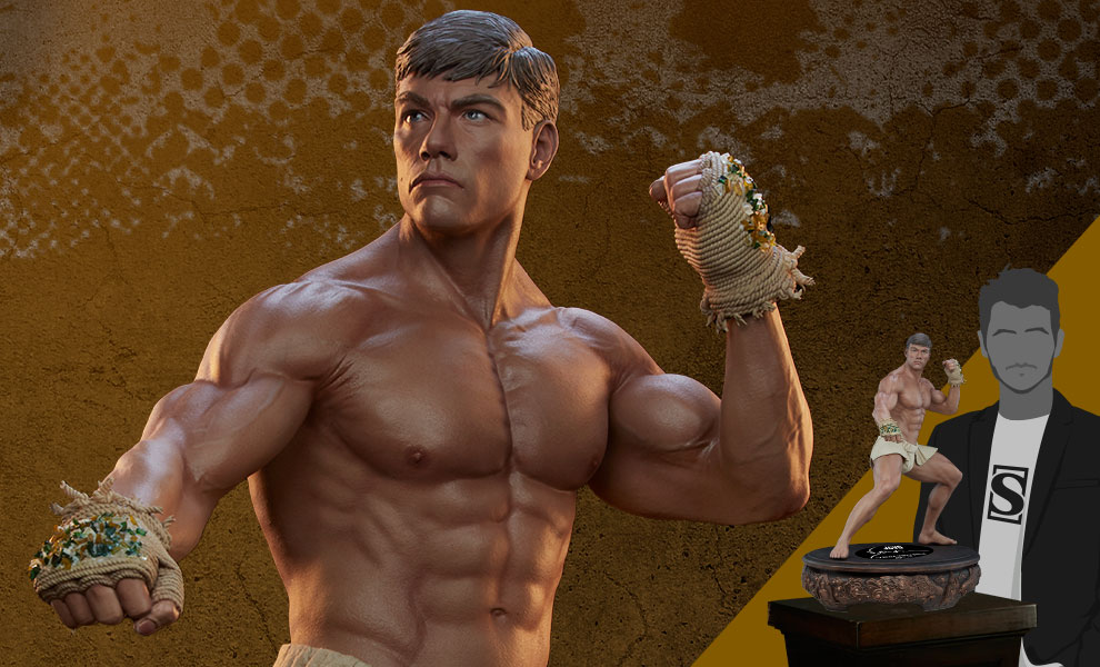 Gallery Feature Image of Jean-Claude Van Damme: Muay Thai Autograph Edition Tribute 1:3 Scale Statue - Click to open image gallery