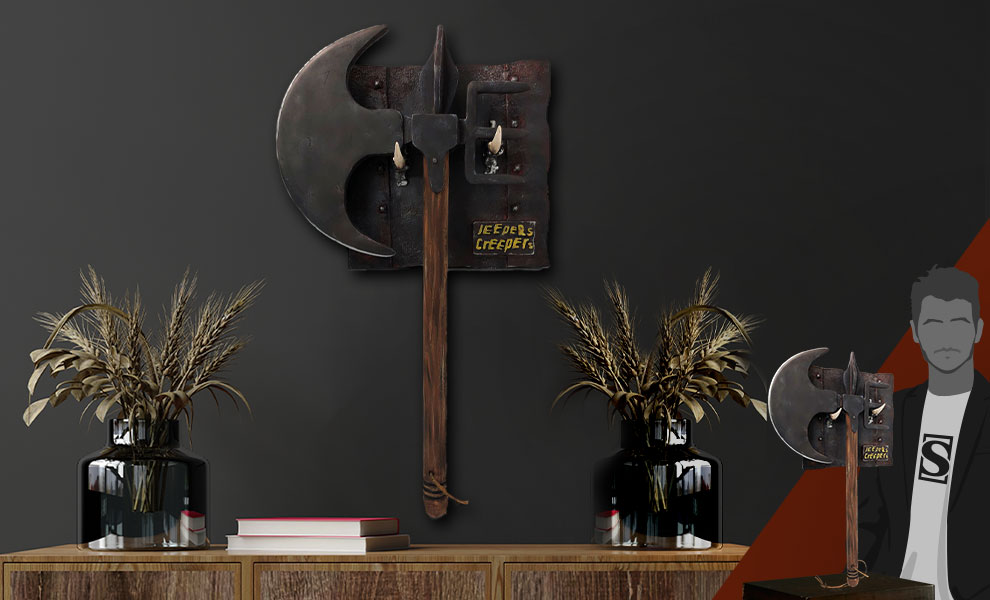 Gallery Feature Image of The Creeper's Battle Axe Prop Replica - Click to open image gallery