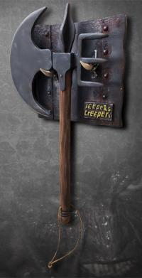 Gallery Image of The Creeper's Battle Axe Prop Replica