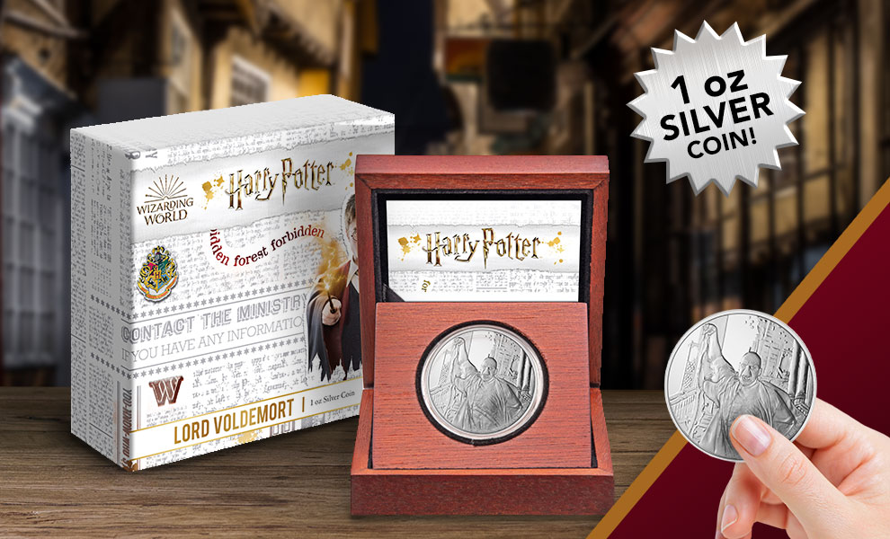 Gallery Feature Image of Lord Voldemort 1oz Silver Coin Silver Collectible - Click to open image gallery