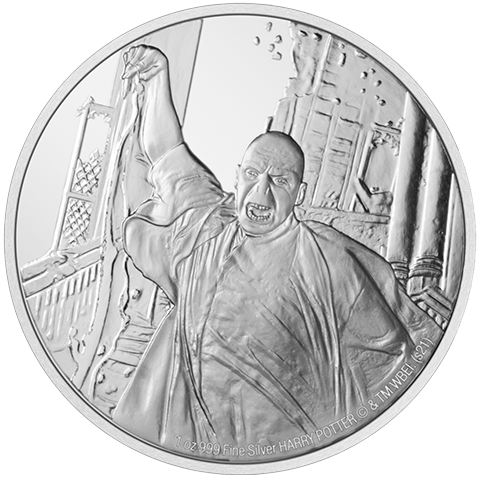 New Zealand Mint Lord Voldemort 1oz Silver Coin Silver Collectible
