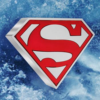 Superman Shield 1oz Silver Coin Silver Collectible