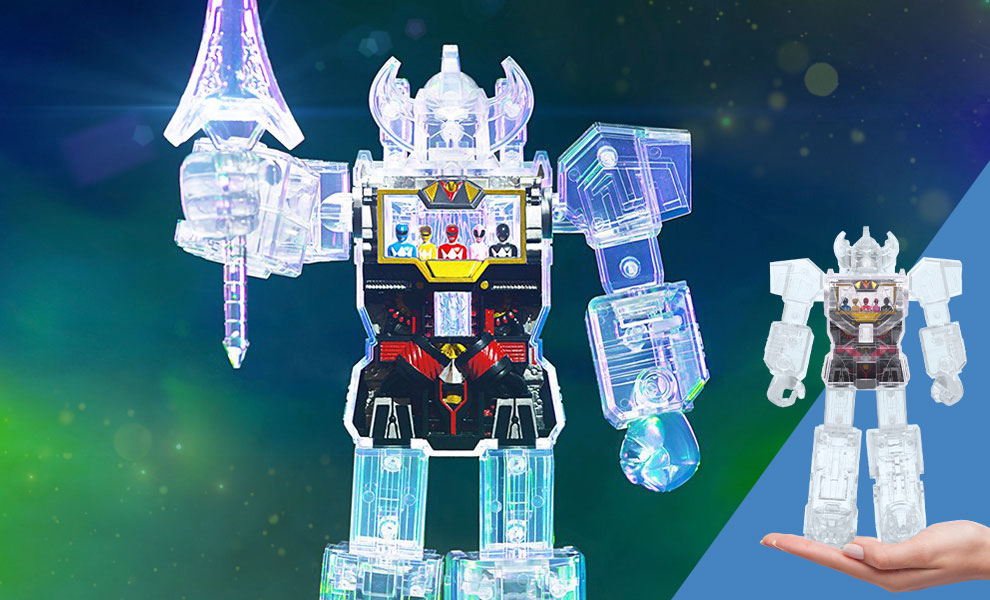Gallery Feature Image of Megazord – Super Cyborg (Clear) Collectible Figure - Click to open image gallery