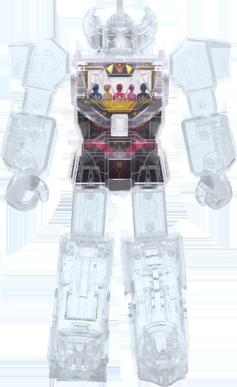 Super 7 Megazord – Super Cyborg (Clear) Collectible Figure