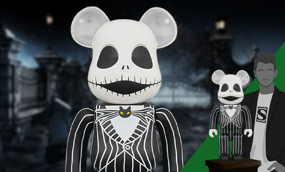 Gallery Feature Image of Be@rbrick Jack Skellington (2021) 1000% Collectible Figure - Click to open image gallery