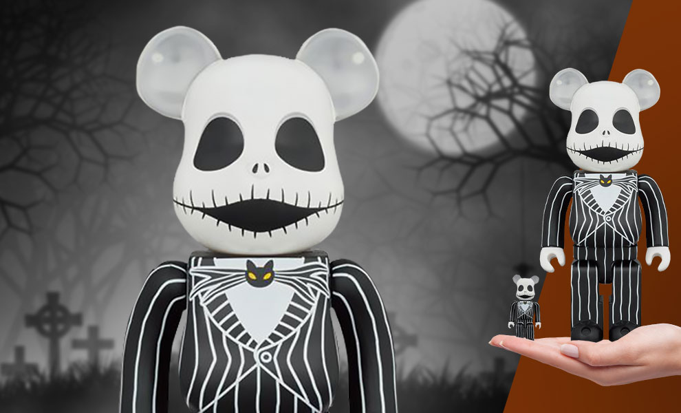 Gallery Feature Image of Be@rbrick Jack Skellington (2021) 100% & 400% Collectible Set - Click to open image gallery