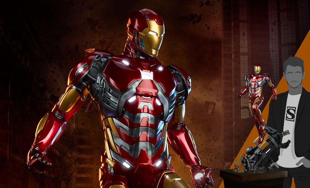 Gallery Feature Image of Iron Man 1:3 Scale Statue - Click to open image gallery