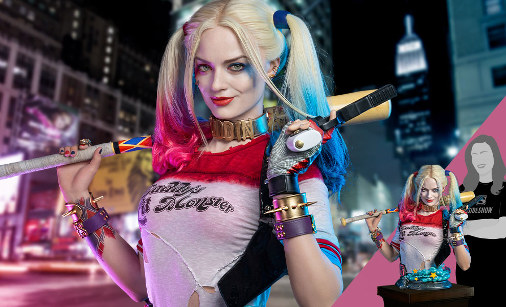 Gallery Feature Image of Harley Quinn Life-Size Bust - Click to open image gallery