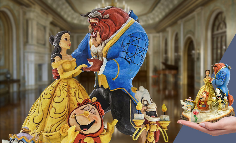 Gallery Feature Image of Beauty and the Beast Carved by Heart Figurine - Click to open image gallery
