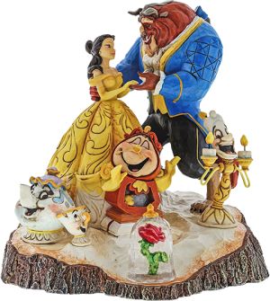 Beauty and the Beast Carved by Heart Figurine