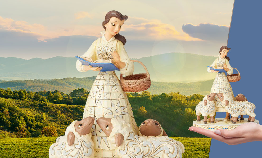 Gallery Feature Image of Belle White Woodland Figurine - Click to open image gallery