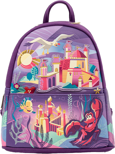 Loungefly Ariel Castle Collection Mini Backpack Apparel
