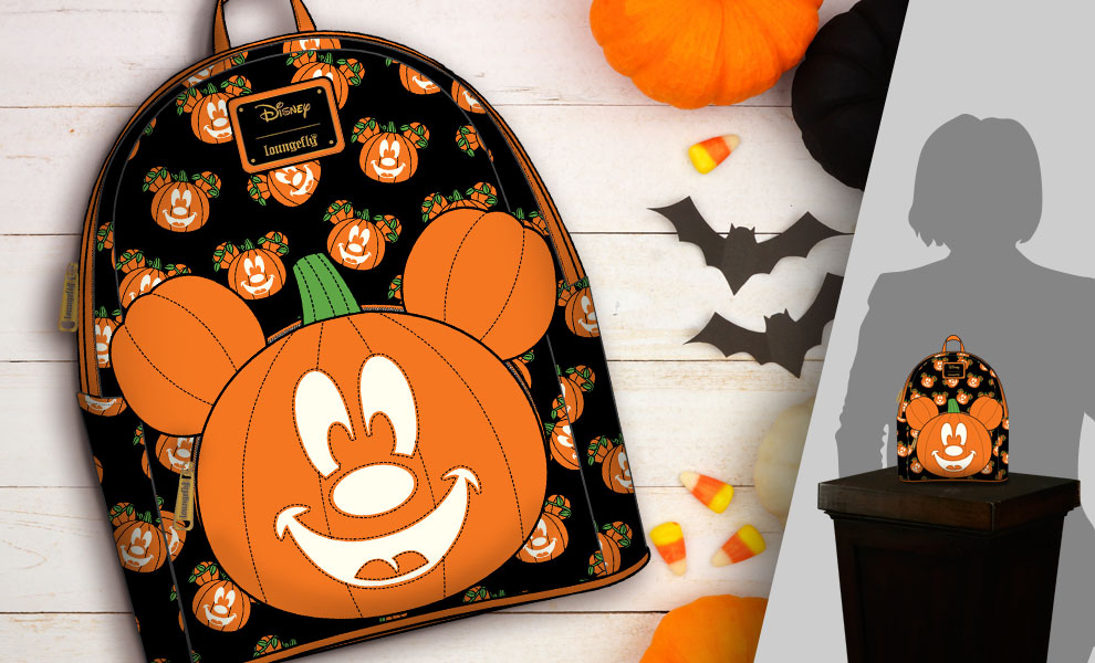 Gallery Feature Image of Mickey-O-Lantern Mini Backpack Apparel - Click to open image gallery