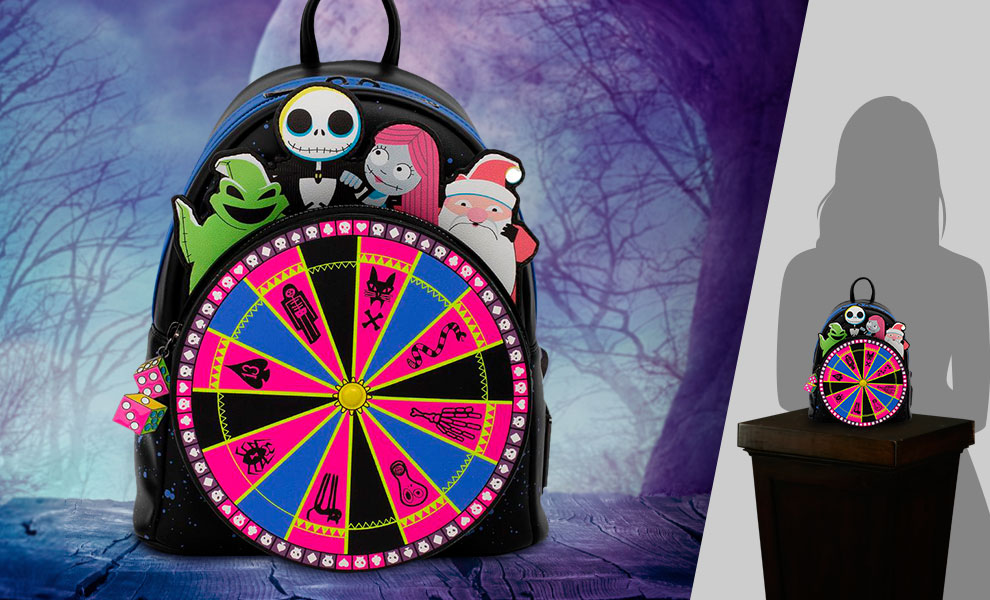 Gallery Feature Image of Oogie Boogie Wheel Mini Backpack Apparel - Click to open image gallery