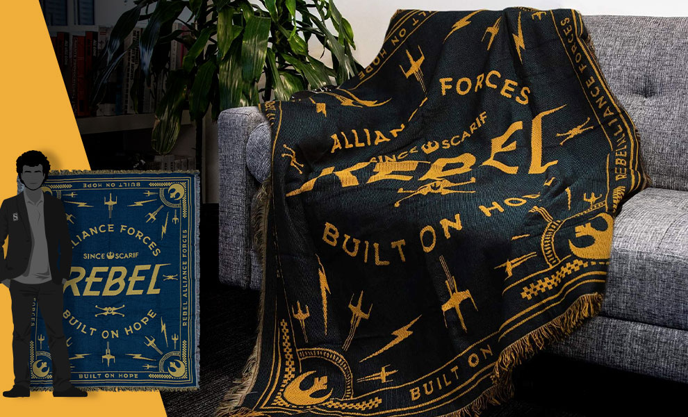 Gallery Feature Image of Rebel Throw Blanket - Click to open image gallery